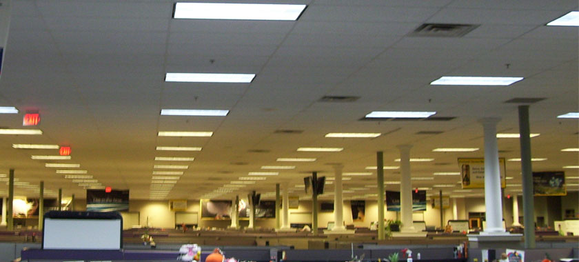 Office lighting being upgraded to Vi-Tek 93 Plus