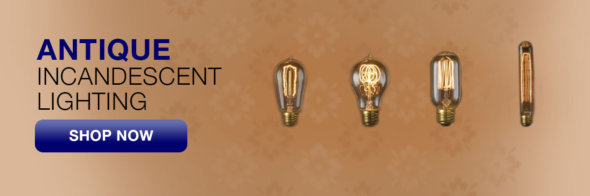 Antique incandescent light bulbs