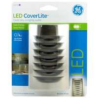 CoverLite, Nickel, Night Light, Covers Any Unsightly Wall Outlet