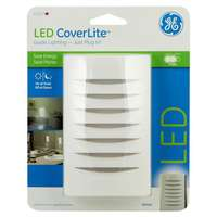 CoverLite, White, LED Night Light, Covers Any Unsightly Wall Outlet