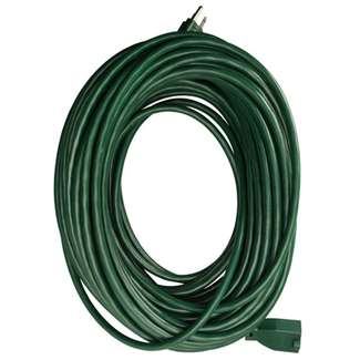 Master Electrician, 80', 16/3 SJTW, Green, Round Vinyl, Extension Cord, Outdoor, 10A, 125V, UL Listed.