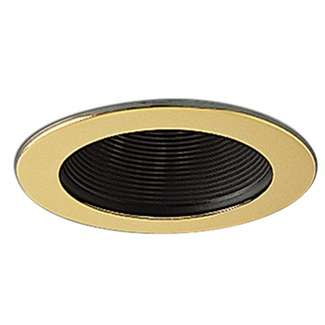 "4"" Black Stepped Baffle with Ring"