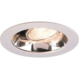 "4"" Adjustable Specular Clear Reflector with White Metal Ring"