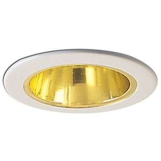 "4"" Specular Gold Reflector with Metal Ring"