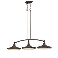 NUVO Lighting 1-Light LED Island Pendant Lights in Rustic Brass Finish
