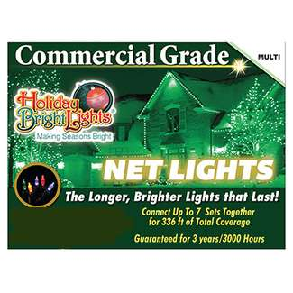 4'x6' Net Light Set Incandescent 150 Multi Lights Commercial Grade