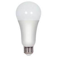 Satco 3/11/16 watt; A21 LED; 3-way; Frosted; 3000K