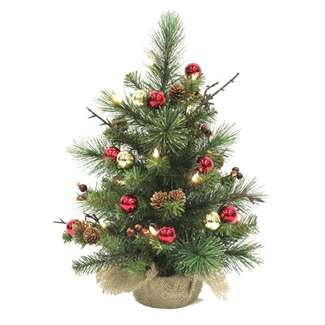 Holiday Wonderland Mini LED Artificial Christmas Tree, 18-In.