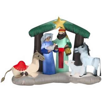 Airblown Christmas Decoration, Nativity, 56-In.