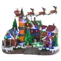 LED Santa Village Scene, Animated