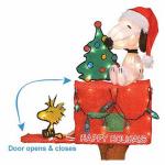 Christmas Animated & Lighted Snoopy + Woodstock, 3D, 32-In.