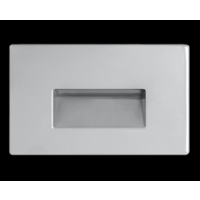 RAB 3W LED Horizontal Steplight Recessed Neutral Silver