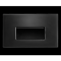 RAB 3W LED Horizontal Steplight Recessed Neutral Black
