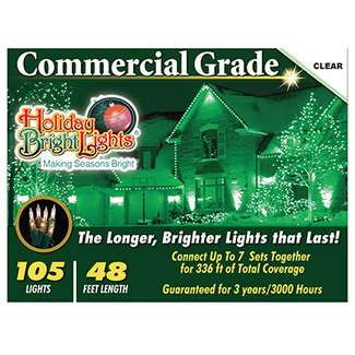 Christmas Light Set, Commercial-Grade, Clear, 105-Ct.