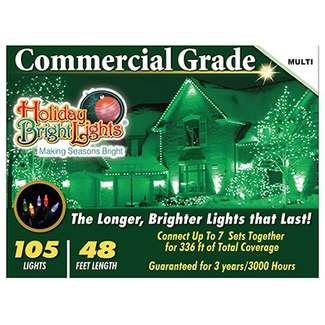Christmas Light Set, Commercial-Grade, Multi, 105-Ct.