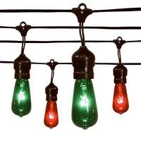 Sylvania Christmas Light Set, Edison Drop, Red & Green, 20-Ct.