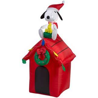 Airblown Christmas Decoration, Snoopy & Woodstock, 48-In.