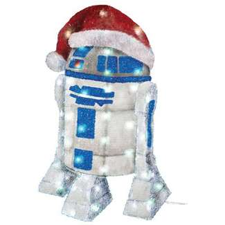 Christmas Lawn Decoration, Lighted R2D2, 28-In.