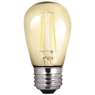 2 Watt - Medium Base 2200K - S14 Filament LED 80 CRI - Amber Halco Lighting