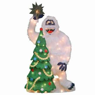 Bumble and Christmas Tree 70-Light Lawn Decor, From Rudolph, 32-In.