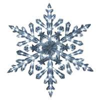 "Holiday Wonderland Lighted Crystal Snowflake, White, 90 ""Twinkling"" LED Lights, 48-In."