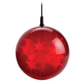 Christmas LED Holographic Sphere, Red, 6-In.