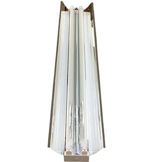 2 Lamp 4 Foot LED Direct Wire Double Ended Fixture. No Ballast