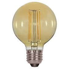 2200K 4.5W G25 LED Amber Medium Base 2200K 120V Light Bulb