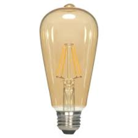 2.5 W ST19 LED Transparent Amber Medium Base Light Bulb