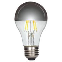 6.5 watt A19 LED; Silver crown; Medium base
