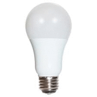 3/9/12 watt; A19 LED; 3-way; Frosted; 5000K