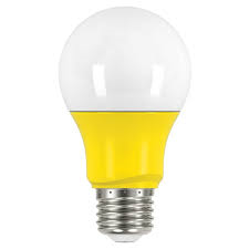 2 Watt - 200 Lumens Yellow A-19 LED Not Dimmable