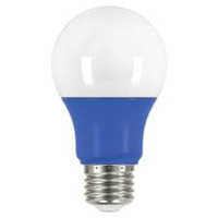 2 Watt - 200 Lumens Blue A-19 LED Not Dimmable