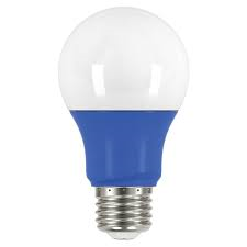 2 watt; A19 LED; Blue when lit; Medium base; 120