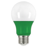 2 watt; A19 LED; Green when lit; Medium base; 120 volts