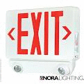 LED Exit & LED Emergency, Red Exit letters with White housing