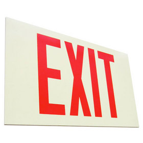 Self Illuminating Exit Sign, Red