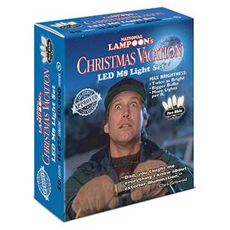 Christmas Vacation Light Set, Commercial Grade, Pure White M8 LED, 50-Ct., Griswold Approved
