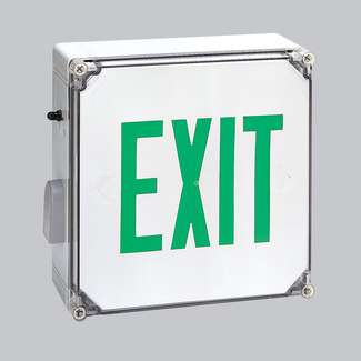 LED Exit Sign Battery Back-up Wet Location