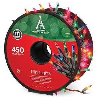 3 x 150 Mini Light Set Multi - Incandescent