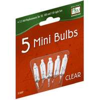 Holiday Wonderland, 2.5V, Clear, Mini Replacement Bulbs