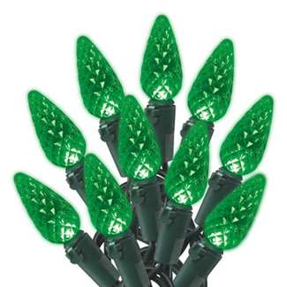 Holiday Wonderland Christmas LED Light Set, C6, Green, 70-Ct.