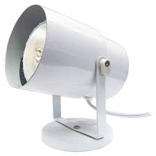 Plant Lamp White Finish Steel