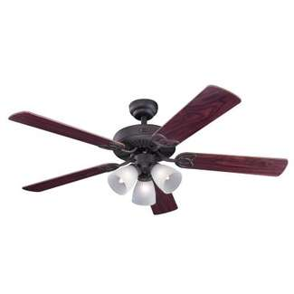 Vintage 52-Inch Indoor Ceiling Fan with Light Kit