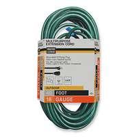 Master Electrician, 40', 16/3 SJTW-A, Green Round Vinyl, Extension Cord, Outdoor, 13A, 125V, UL Listed.
