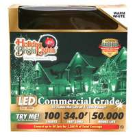 33' - 100 Light Set Warm White - T5 LED Commercial Grade