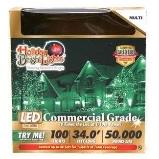 33' - 100 Light Set Multi - T5 LED Commercial Grade