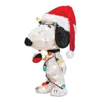 "24"" 3D Snoopy Lighted Lawn Decoration"