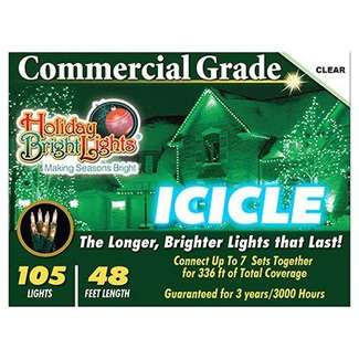 105 Icicle Light Set Clear - Incandescent Commercial Grade