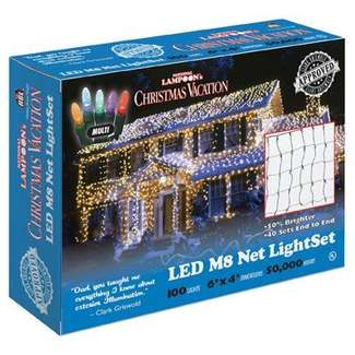 6'x4' Net Light Set 100 Multi LEDs Commercial Grade